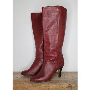 Vintage Etienne Aigner Burgundy Leather Boots